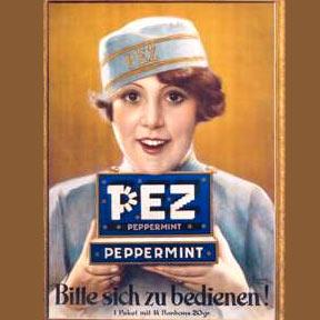 PEZ Werbung aus vergangenen Tagen, Copyright: Ed. Haas Austria GmbH