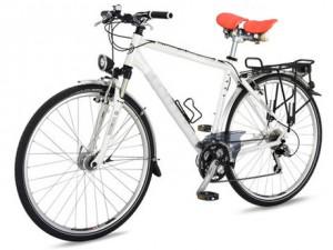 Fahrrad mit Komfortsattel